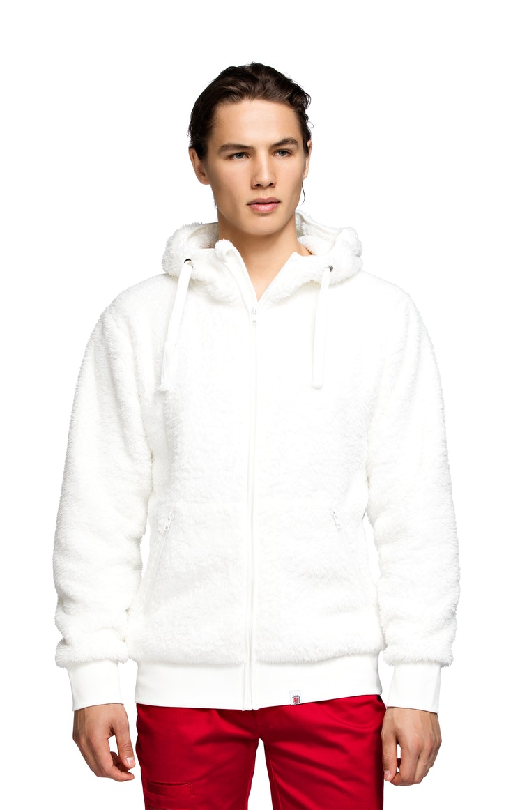 Fleece Unisex Flagg Teddy Hvit