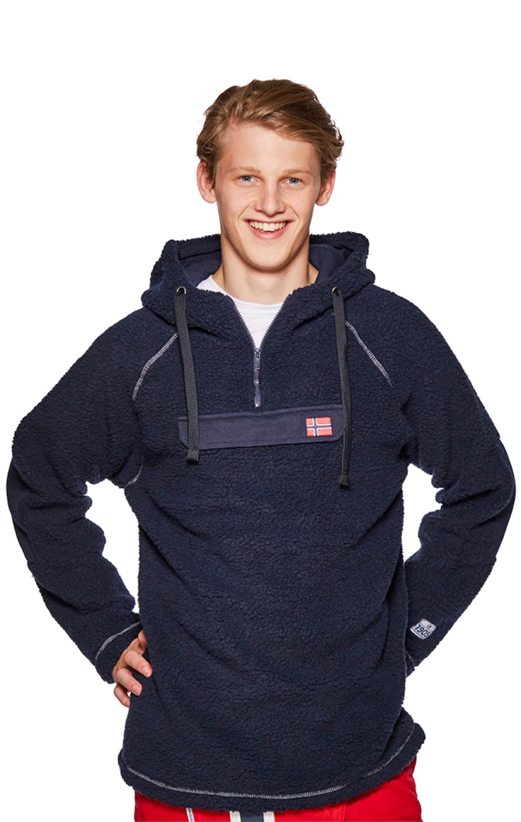 Fleece Unisex Flagg Lomme Polar Marine