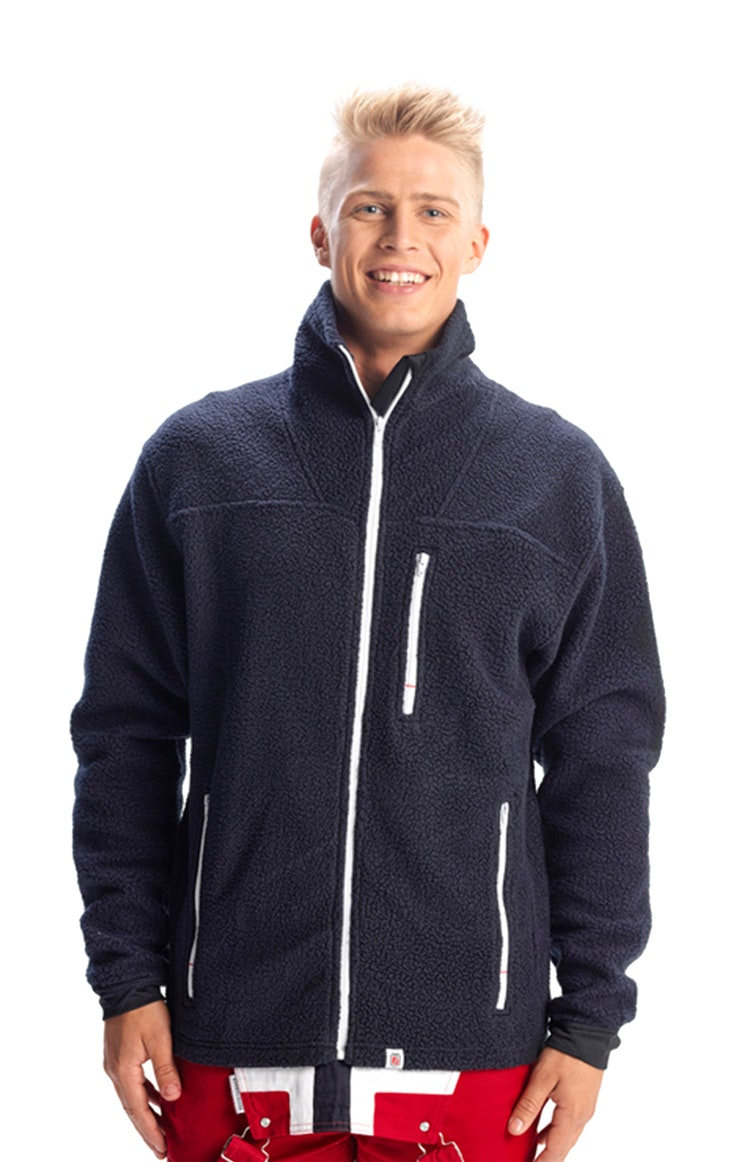 Fleece Unisex White Zip Polar Marine