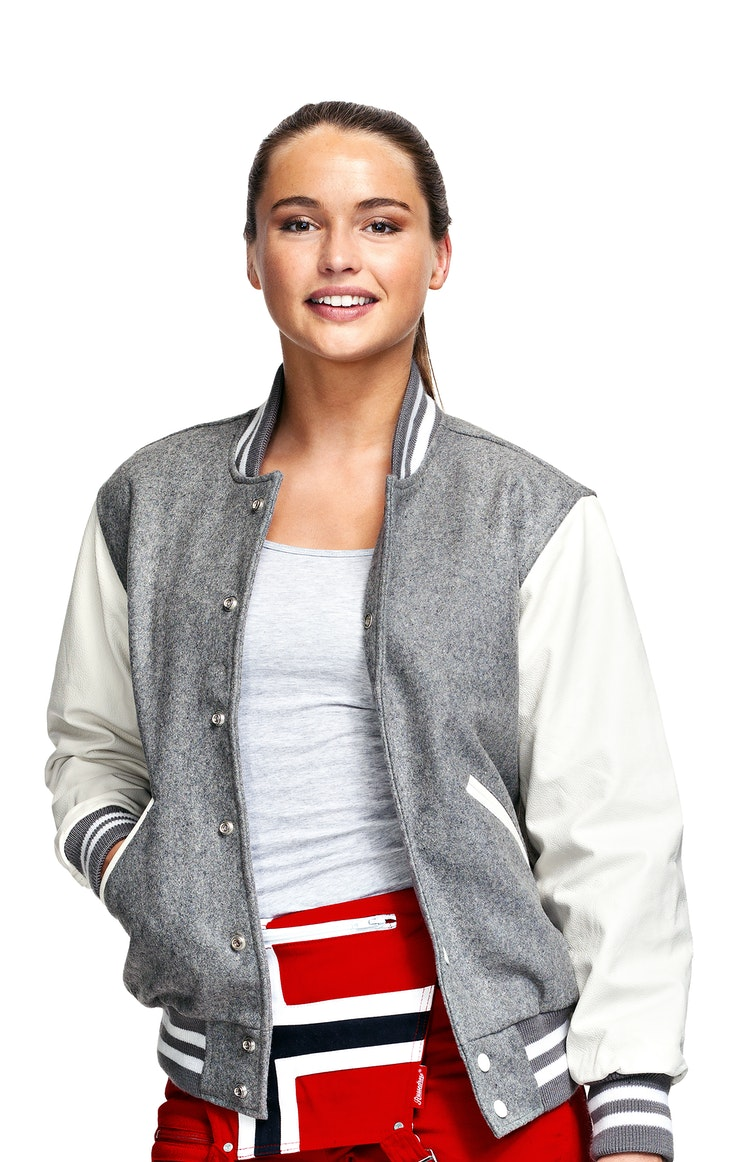 Jacket College Skinnermer Unisex Grey