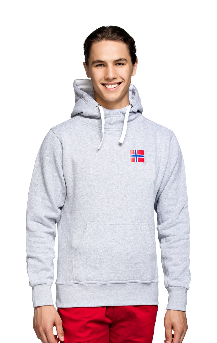 Hood Unisex High Neck Grå