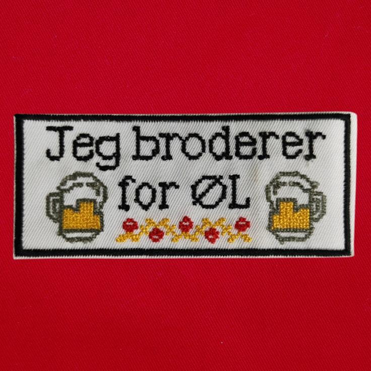 Badge Brodere for Øl - 140