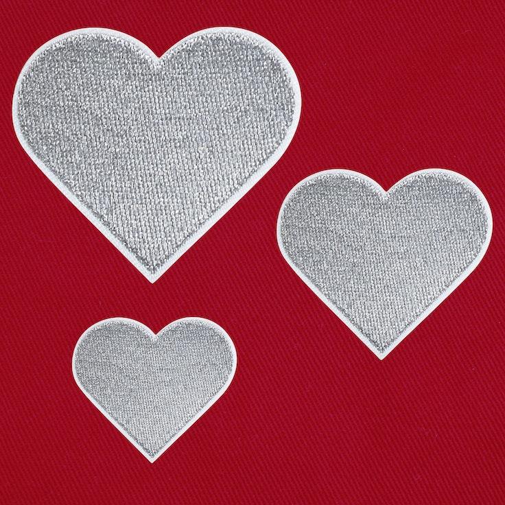 Hjerter 3-pack Sølv