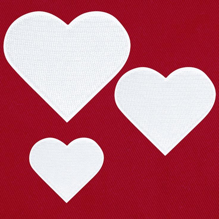 Hjerter 3-pack Hvit