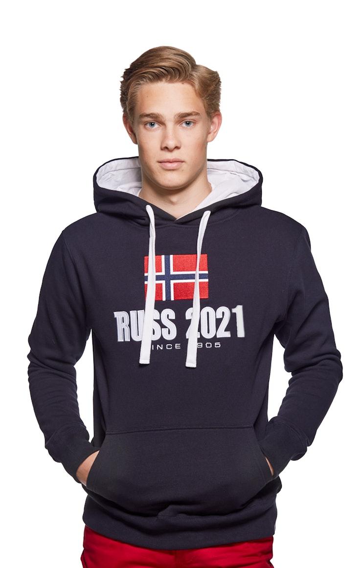 Hood Unisex Brodert Russ Marine