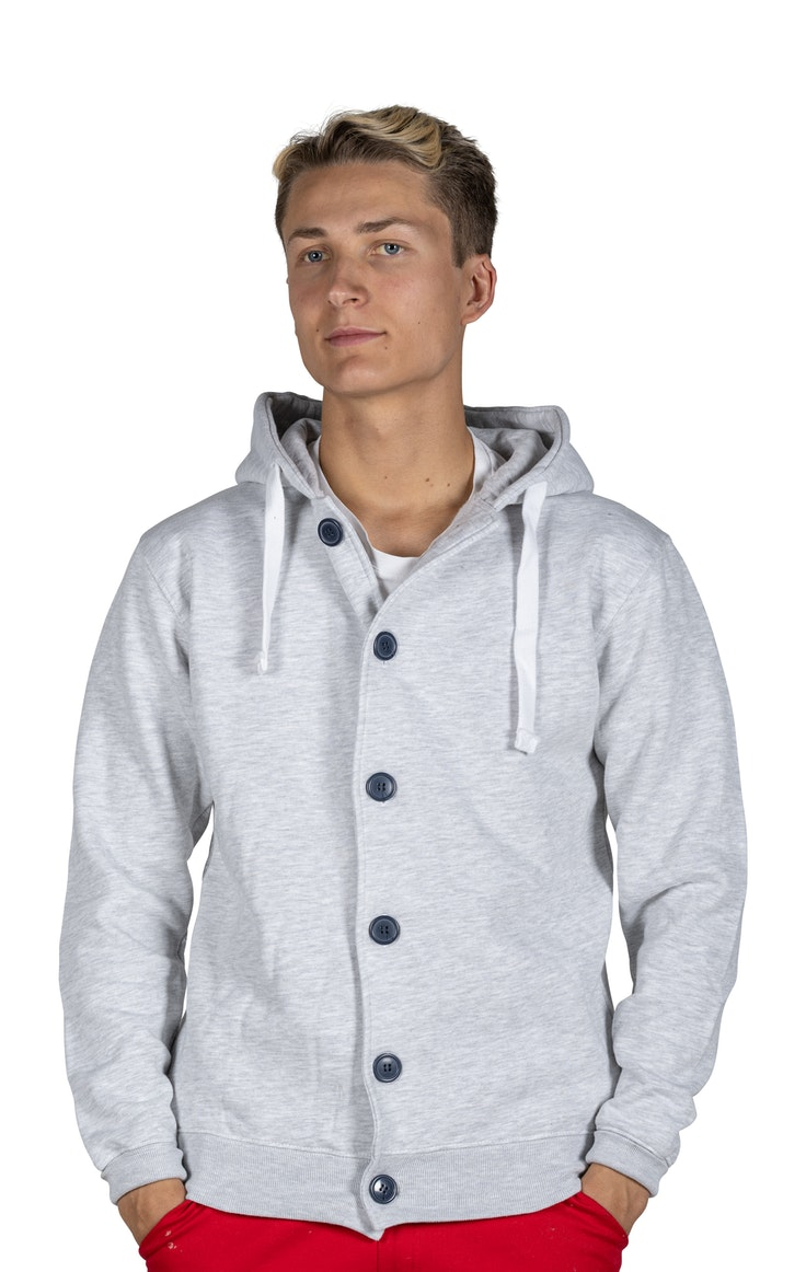 Hood Unisex Button Grey