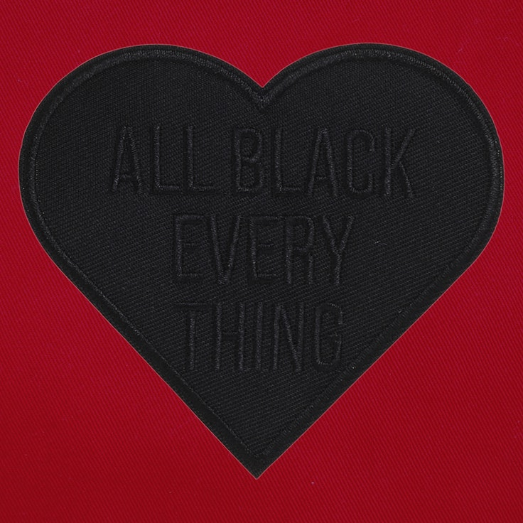 Badge Black Heart - 69