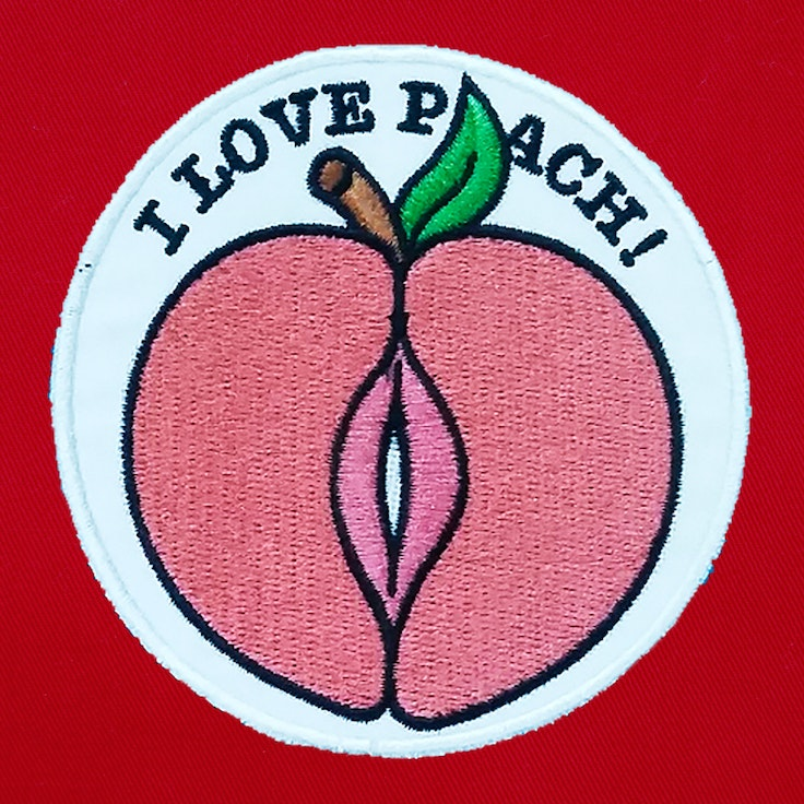 Badge Peach - 158