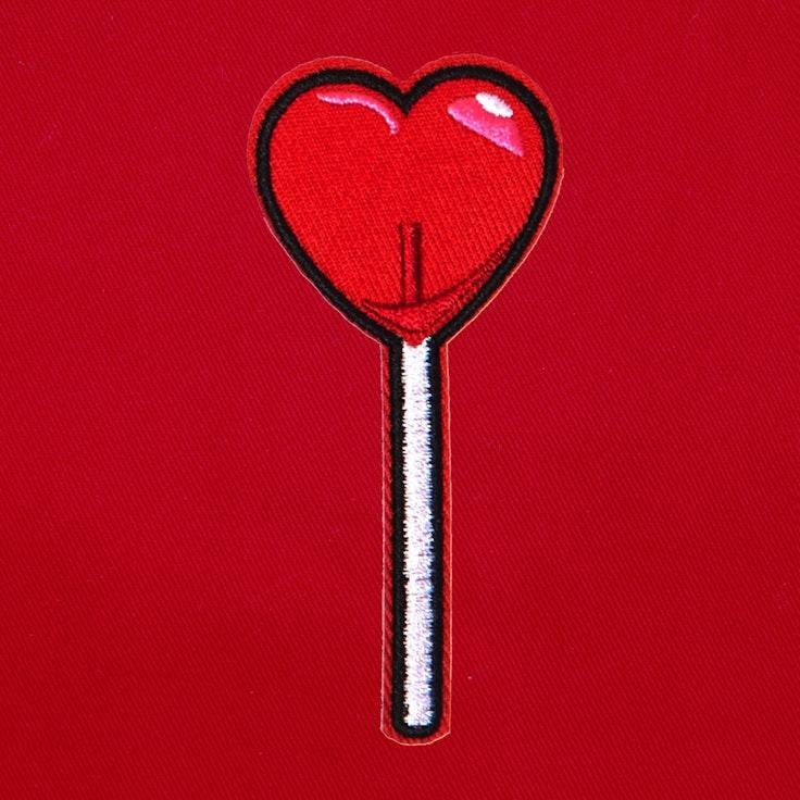 Badge Lollipop Heart - 208