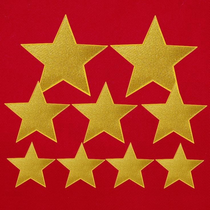 Stjerner 9-Pack Gull