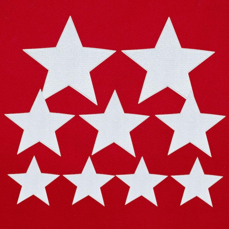 Stjerner 9-Pack Hvit